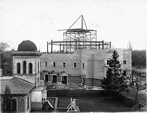 Convocation Hall (University of Toronto) - Convocation Hall under construction, 1906
