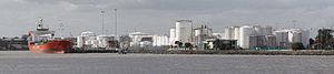 Coode Island - Coode Island viewed from the junction of the Yarra and Maribyrnong Rivers