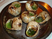 Cooked French Escargots