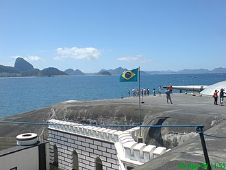 18 of the Copacabana Fort revolt -  Copacabana Fort´s Main battery Guns pointing towards the Sugar Loaf Mountain. Copacabana Fort is now a Museum and a tourist attraction.