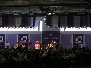 Cornell College - Commencement ceremony in the Small Sport Center at Cornell College