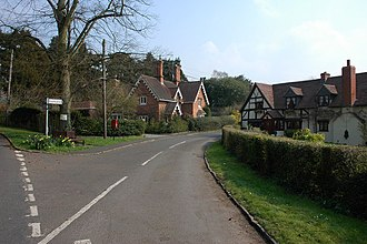 Broome, Worcestershire - Image: Cottages in Broome
