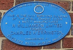 Coventry watch museum project   lower holyhead road   c.h. errington