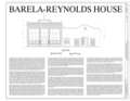 Cover Sheet with elevation and project information - Barela-Reynolds House, Calle Principal, Mesilla, Dona Ana County, NM HABS NM-205 (sheet 1 of 8).png