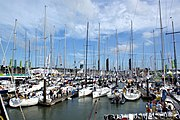 Cowes Yacht Haven during Cowes Week 2008