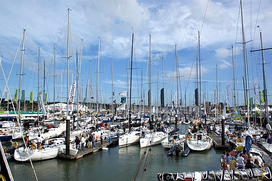 Cowes Yacht Haven during Cowes Week 2008.JPG