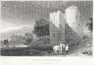 Crickhowel Castle: Brecknockshire