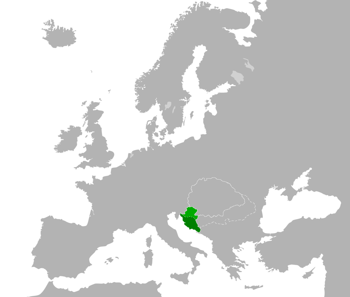 Croatia In Union With Hungary Wikipedia - Hungary blank map