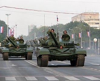 M-84 - Image: Croatian M 84 Zagreb Military Parade