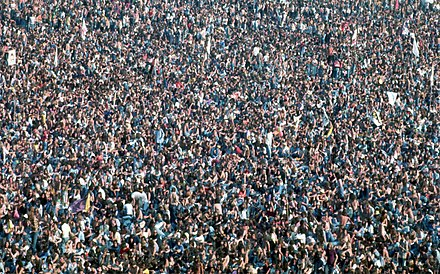 Todd Rudgreen Crowd at Knebworth concert, London - 1976 Crowd at Knebworth House - Rolling Stones 1976.jpg