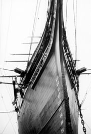 Bow of Clipper ship Cutty Sark