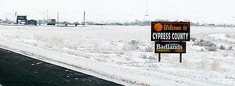 Cypress County - Welcome sign