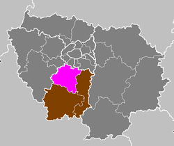 Location of Palaiseau in Essonne