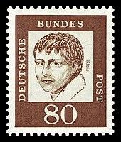 Briefmarke der Deutschen Bundespost (1961) aus der Serie Bedeutende Deutsche (Quelle: Wikimedia)