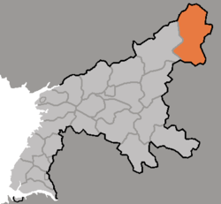 Location of Taehŭng County
