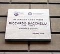 DSC02743 Milano - Lapide a Riccardo Bacchelli (1891-1986) - Foto Giovanni Dall'Orto - 20 jan 2007.jpg