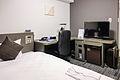Daiwa Roynet Hotels business single bedroom 20120310-002.jpg
