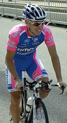 Damiano Cunego in allenamento durante il Tour de France 2010
