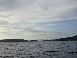 Dampier Strait (Indonesia) - View of Dampier strait (20 mi from Sorong)