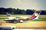 Dan-Air BAe 146 G-BKHT at MAN (29123941684).jpg