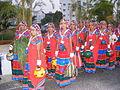 Dancers wearing traditional dress of the Banjara Lamadi or Lambani tribe in Andhra Pradesh DSCF7370 (2).JPG