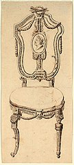 Design for a chair in Louis XVI style