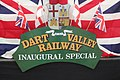Dart Valley Railway inaugural train headboard.jpg