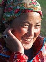 Daur woman smiling