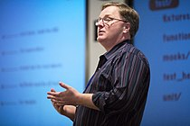 Dave Thomas speaking at the Pasadena Rails Studio.jpg