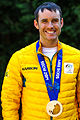 David Morris Sochi Silver Medallist in Australian yellow podium jacket.jpg