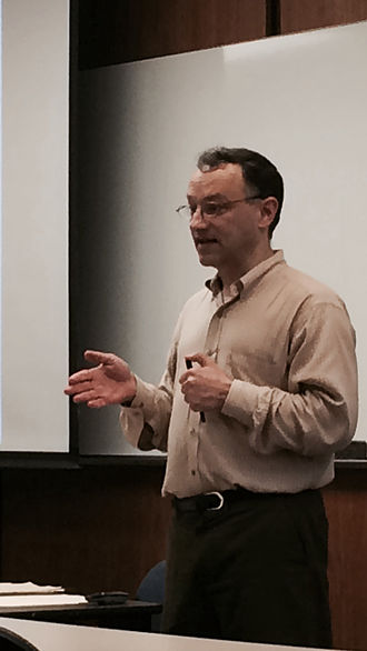 David O. Meltzer - Meltzer lecturing in Chicago, May 2015