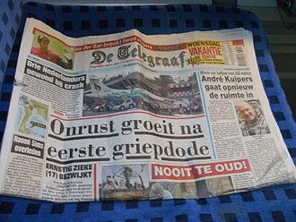 De Telegraaf - Image: De Telegraaf 050809