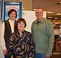 Debbie Macomber with Patty and Alan Schrader 161203-N-SP496-003.jpg