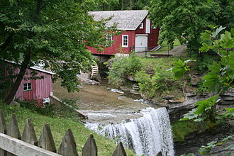 St. Catharines - The old water mill at Decew Falls, Niagara Escarpment, in Thorold near St. Catharines