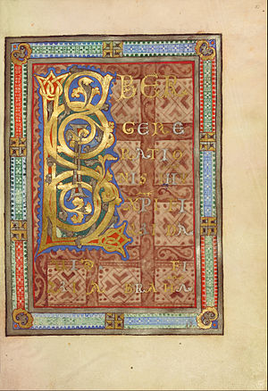 Incipit - Decorated incipit page to the Gospel of Matthew, 1120–1140