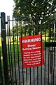 Deer warning sign at Wollaton Park, Nottingham, England.jpg