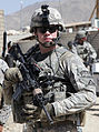 Defense.gov News Photo 100608-A-1619C-010 - U.S. Army 1st Lt. Daniel Meegan conducts a combat patrol from Forward Operating Base Baylough in the Zabul province of Afghanistan on June 8 2010.jpg