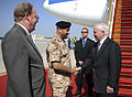 Defense.gov News Photo 101209-F-6655M-008 - Secretary of Defense Robert M. Gates is greeted by United Arab Emirates Gen. Shaikh Mohammad Bin Zayed and U.S. Embassy Charge d Affaires Douglas.jpg