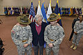 Defense Secretary Chuck Hagel chats with two Army drill sergeants during his visit to Fort Eustis, Va 140225-D-NI589-1342.jpg