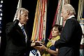 Defense Secretary Chuck Hagel is sworn in by Vice-President Joe Biden during a welcoming ceremony at the Pentagon.jpg