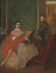 Edgar Degas: Edmondo and Thérèse Morbilli