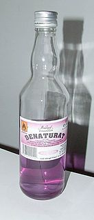 Denatured alcohol ethanol with additives to discourage recreational consumption