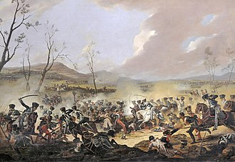 Battle of Orthez - The Final Charge of the British Cavalry at the Battle of Orthez by Denis Dighton