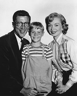 Gloria Henry - Henry with Dennis the Menace co-stars, Herbert Anderson and Jay North, 1959