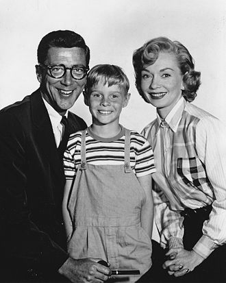 Jay North - North with Dennis the Menace co-stars Herbert Anderson and Gloria Henry, 1959
