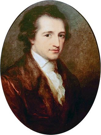 Johann Wolfgang von Goethe - Goethe, age 38, painted by Angelica Kauffman 1787