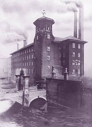 Derby Silk Mill - Derby Silk Mill, probably in the early 1900s, before the 1910 fire.