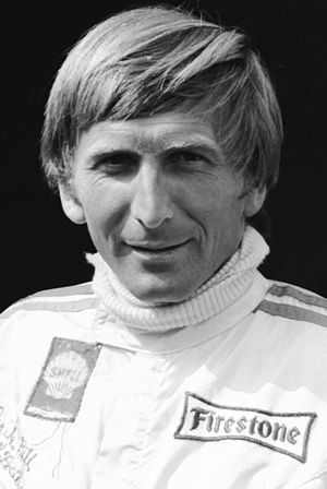 Derek Bell (racing driver) - Derek Bell at the Nürburgring in August 1970 when racing Formula 2