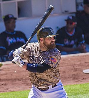 Derek Norris - Norris batting the San Diego Padres in 2015