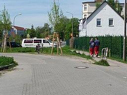 Derzeitiges Ende der Osdorfer Straße vor der versackgassten Einmündung in die Mahlower - panoramio